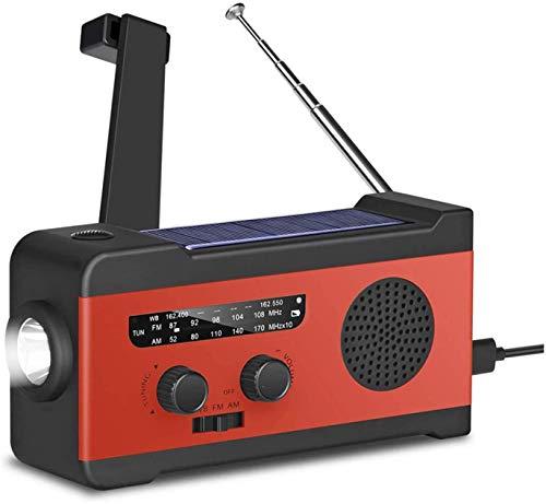 防災ラジオ 防災グッズ 大容量2000mA防災ソーラーラジオ SOSアラート 手回しラジオ AM/FM携帯ラジオ ラジオライト USB手回し発電 ソーラー 充電 手回し充電 3つ給電式ラジオ携帯充電器防水 震災 地震など iPhone/Android充電対