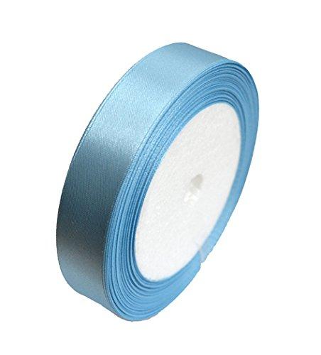 GCS Ruban satiné 20 mm Bleu clair – Rouleau de 23 mètres