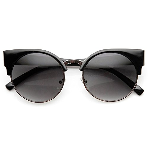KISS Sonnenbrille RIHANNA-Stil mod. MOON - Fashion WOMAN Diva Rockstar VINTAGE hervorragend - SCHWARZ