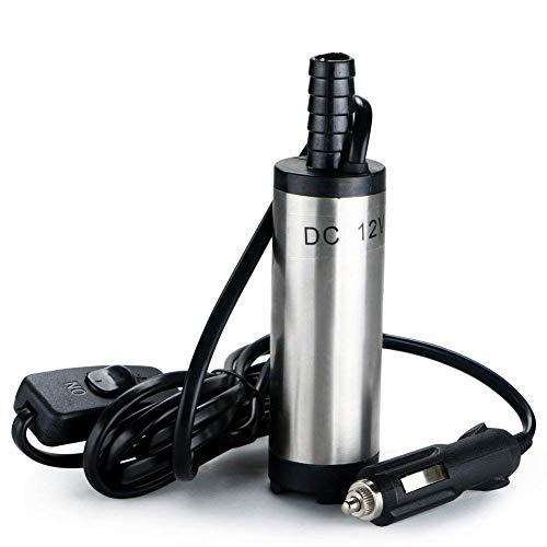 flintronic Bomba de Agua y Aceite, 12V Bompa Sumergible de Acero Inoxidable Bomba de Combustible Diesel Transferencia de Líquido Aceite Agua por Auto, Caravana, Marino, Barca