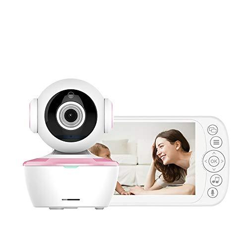 HGYLIOE 5 Pulgadas inalámbrico bebé Monitor, Audio Digital, detección de la Temperatura, de intercomunicación de Voz del Monitor del bebé