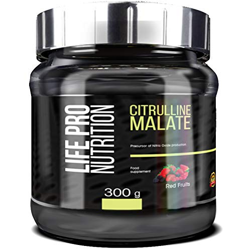 Life Pro Citrulina Malato 300 g | Integratore con Citrulina e Malato, migliora le prestazioni sportive, facilita la crescita muscolare e migliora la resistenza, gusto frutti rossi