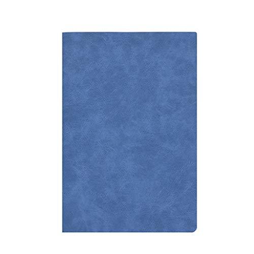 SFF Cuadernos de Oficina Notebook/Diario clásico Bloc de Notas, B5 Tapa Dura portátil PU, Papel Grueso, Hojas Sueltas de Negocios Diario Cuaderno de Tapa Blanda (Color : Blue)