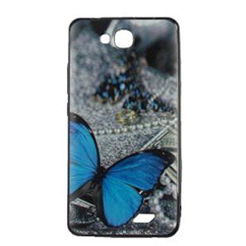 Yrlehoo Für Oukitel C3 5.0 Zoll, Premium softe Silikon Schutzhülle für Oukitel C3 5.0 Zoll Tasche Hülle Cover Hülle Etui Schutz Protect, Schmetterling