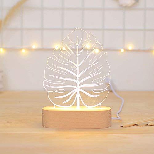 WFBD-CN Lámpara de Escritorio LED Fashian Tree Leaves Photo Props Posando Decoración Luces LED Lámpara de Mesa Luz Nocturna Carga USB lámpara de Escritorio Flexible del LED