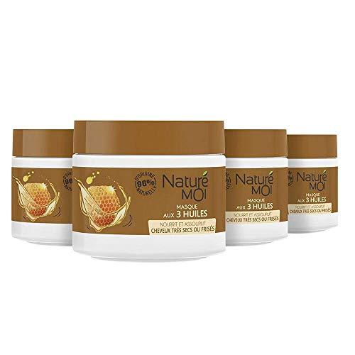 Naturé Moi - BIO- Masque aux 3 huiles – À l'extrait de miel bio et aux huiles d'olive, d'onagre et d'abricot bio – 1200ml (300ml )