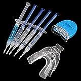 Zhou-YuXiang Kit de blanqueador blanqueador de Dientes Blanco Profesional de 5 Piezas, Sistema de blanqueamiento Dental, Kit de Gel Oral, blanqueador de Dientes