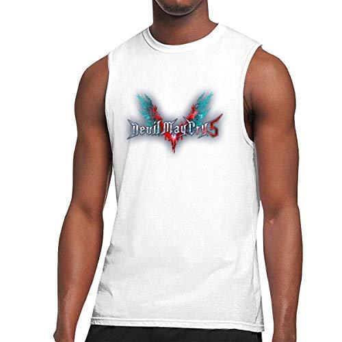 Nuevas Camisetas sin Mangas Personalizadas Devil May Cry 5 de Moda para Hombre Negro