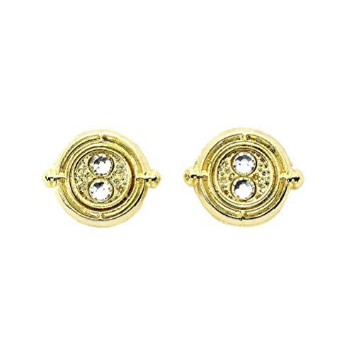 The Carat Shop Harry Potter Zeit Turner Gold überzogene Bolzen-Ohrringe