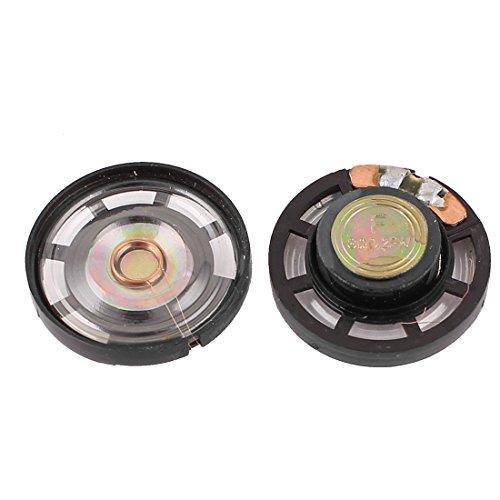 uxcell マグネットスピーカー 磁気スピーカー ミニ型 外部 直径27mm 8 Ohm 0.25W 2個