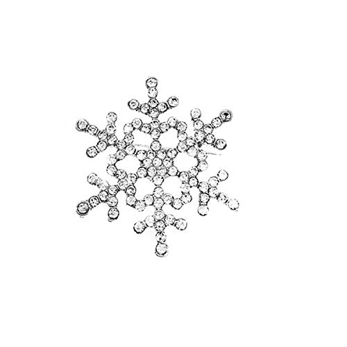 PPX österreichischen Kristall Schneeflocke Blume elegant Braut Brosche Klar Glitzernden Kristallrhinestone Brauthochzeits Strauß Silber Blume Brosche Pin (Silber)