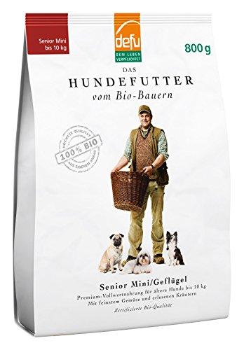 defu Trockenfutter für Hunde, Senior, für kleine Rassen, Geflügel, Alleinfuttermittel, 2er Pack (2 x 800 g)