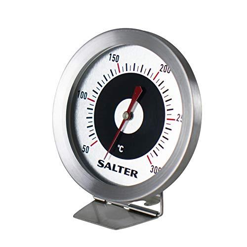Salter analoges Thermometer für Kühl- und Gefrierschrank - Kühlthermometer Gefrierthermometer Temperaturbereich -30 bis 30°C, Edelstahl Gehäuse, Bimetall Sensor für exakte Ergebnisse