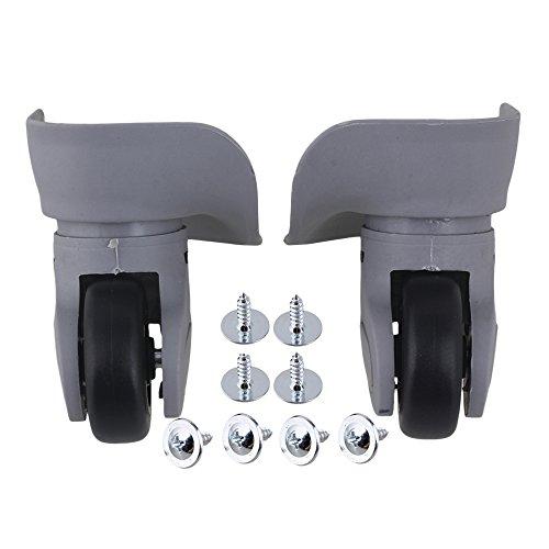 2 piezas gris 91x97x49mm bricolaje equipaje rueda giratoria reemplazo izquierda y derecha