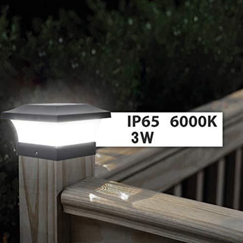 Suszian Pfosten-Kappen-Solarlichter, Solarpfosten-Kappen-Licht-Solarpfosten-Licht-im Freien Spalten-Lampe wasserdichte Solar-LED-Lampe für hölzerne Pfosten, Plattform, Patio, Zaun