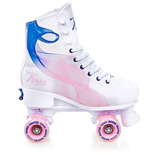 RAVEN Rollschuhe Roller Skates Serena Navy/Pink 39-42 (24,5cm-26,5cm)