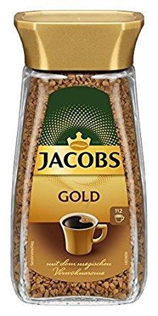 Jacobs Gold Löslicher Kaffee Glas Inhalt: 200g = 112 Tassen Kaffee