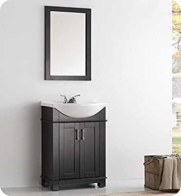 "Fresca FVN2302BL-CMB Hartford 24"" Black Traditional Bathroom Vanity with Sink Combo (Faucet not included)"