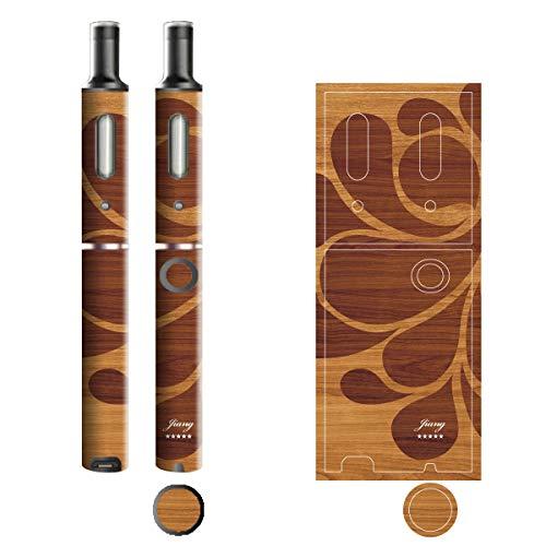 電子たばこ タバコ 煙草 喫煙具 専用スキンシール 対応機種 プルームテックプラスシール Ploom Tech Plus シール 木目調デザインシリーズ 04レトロ 06-pt08-0304