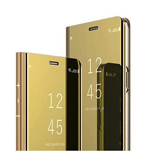 Clear View Standing Cover für das Samsung Galaxy S8 Plus, kompatibel mit Galaxy S8 Plus, Spiegel Handyhülle Schutzhülle Flip Cover Schutz Tasche mit Standfunktion 360 grad hülle für Galaxy S8 Plus (2)