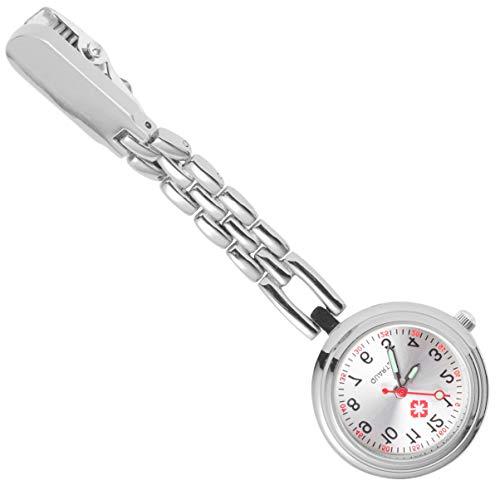 NICERIO Krankenschwestern Uhr - Clip auf Krankenschwester Uhren Krankenschwestern Revers Taschenuhr Quarzwerk Krankenschwestern Krankenschwestern Taschenuhr für Frauen Abschluss