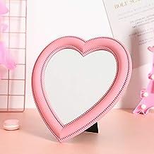 XPXKJ Tabletop Vanity Makeup Mirror (Heart-Shaped)