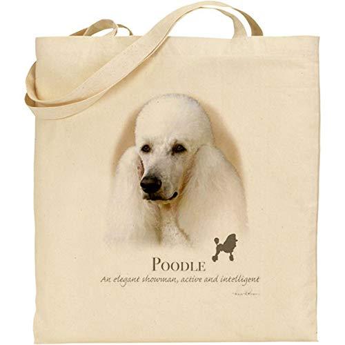 Howard Robinson Pudel Hund Baumwolle natur Tasche