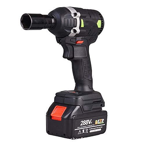 Llave de Impacto - 288 VF Atornillador Impacto (630Nm / 19800mAh Batería de Litio/par de torsión de 3000 rpm/Brushless) A