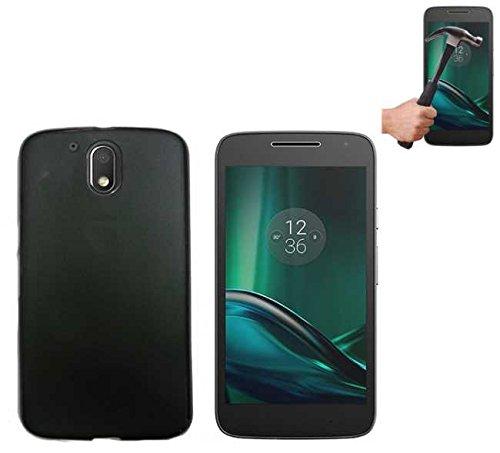 Todobarato24h Funda TPU Lisa Motorola Moto G4 Plus Negra + Protector DE...