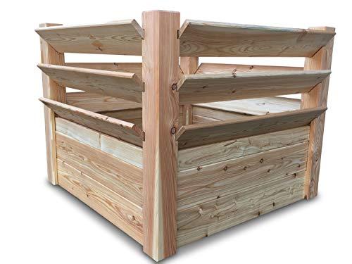 GartenDepot24 Estable bancal de hierbas de madera sin tratar, 100 x 100...