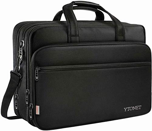17 inch Laptop Bag, Travel Briefcase with Organizer, Expandable Large...