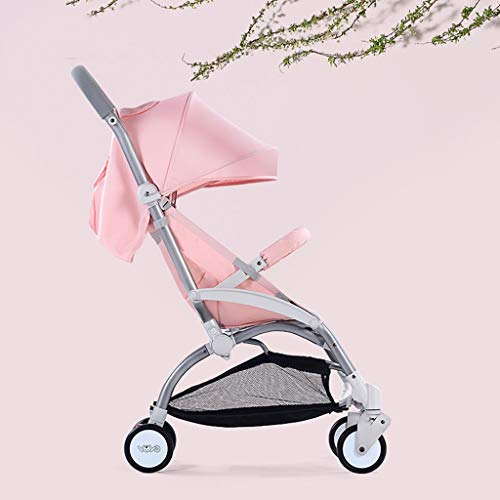 Lightweight Stroller,Folding Sit and Lay Child Kids Baby Umbrella Stroller,Pushchairs,Lightweight and Easy Fold, Pink