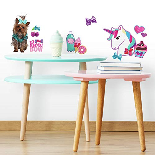 Nickelodeon RoomMates Jojo Siwa Cute And Confident Peel And Stick Wall Decals W/Glitter, Pink, Blue, Purple, 1 Sheets 9 x 17.375 - RMK3808SCS