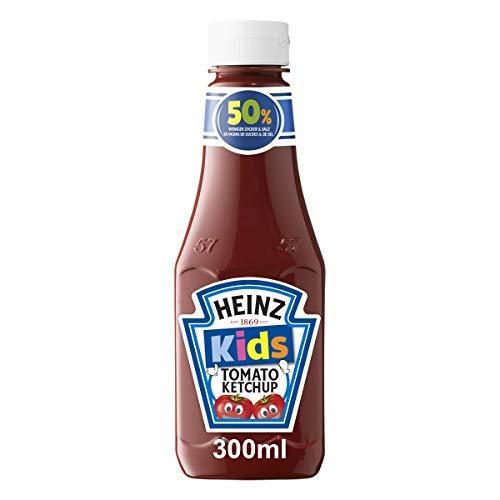 Heinz Tomato Ketchup Kids, 50% weniger Zucker & Salz, Kopfsteherflasche, 10er Pack (10 x 300 ml)