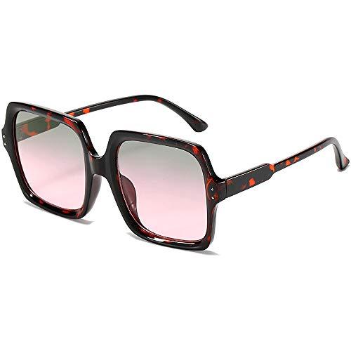 Square Oversized Sunglasses for Women Trendy UV 400...