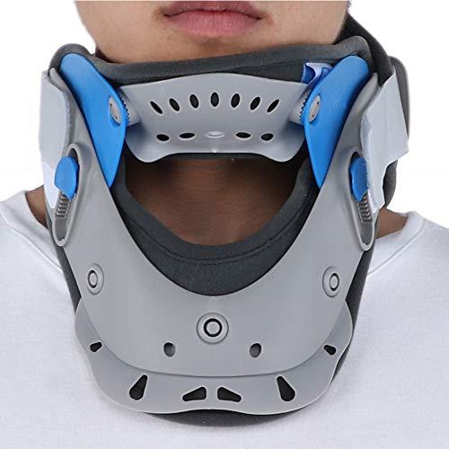 Collar de soporte de cuello cervical: tracción cervical transpirable, soporte de cuello y tratamiento de cuello para uso doméstico, masajeador de alineación de la columna vertebral para aliviar el dol