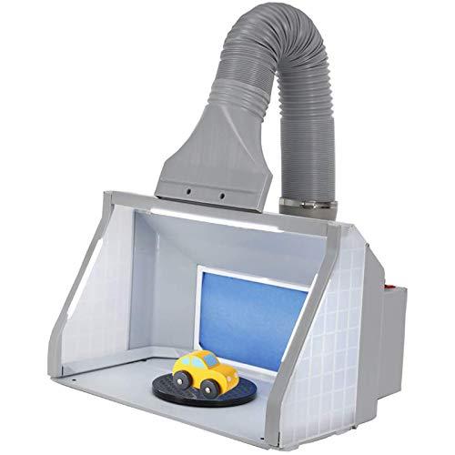 ANZQYILIAO Kit De Manguera Cabina De Pintura Modelo Portátil con Luz LED, Extractor De Aerógrafo 9M³ / Min para Juguetes, Modelos Y Manualidades