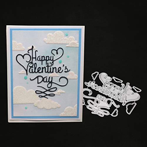 hgfcdd Happy Valentinstag Metall Stanzformen Schablone DIY Scrapbooking Album Stempel Papier Karte Präge Decor Craft