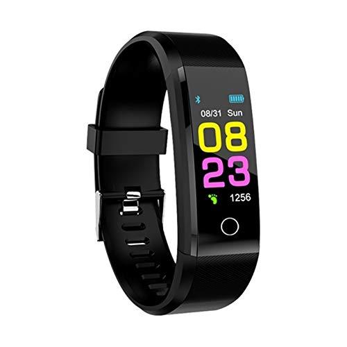 FFF8 New Smart Watch Men Women Heart Rate Monitor Monitor De La Presión Arterial Fitness SmartWatch Sport Watch para iOS Android (Color : Black)