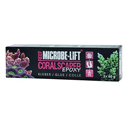 MICROBE-LIFT Coralscaper Epoxy - 2K Korallenkleber, perfekt zur Befestigung von Korallen, Ablegern und Riffaufbauten in jedem Meerwasseraquarium, 2x60g