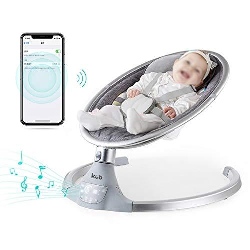 YC electronics Cunas de Viaje Mecedora eléctrica con Control Bluetooth for bebés Columpio for bebés Cuna for bebés con Cuna Mecedora Silla for recién Nacidos