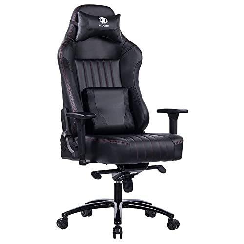 KILLABEE Racing Gaming Chair for Boys Big Tall Gaming Chair for Big Guys Gamer Chairs Computer Chair Ergonomic Game Chairs Memory Foam Chairs Leather Chair Adjustable Tilt and 3D Arms (Black)