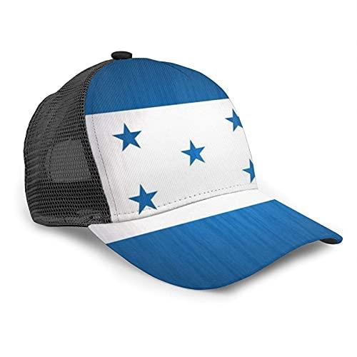 Oaieltj Gorra de béisbol unisex para mujer y hombre, gorra de béisbol ajustable de malla Snapback sombrero de camionero sombrero de sol, Bandera de Honduras, Talla única