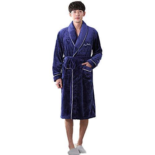 HUAHUA HOMEWEAR Invierno caliente grueso Mujer polar de coral traje del kimono Pareja camisón de baño del vestido de la ropa de noche grande larga ropa de dormir unisex súper blando Homewear, Mujeres,