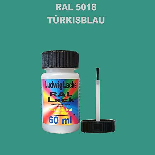 60 ml Lackstift mit Pinsel im Farbton RAL 5018 Türkisblau