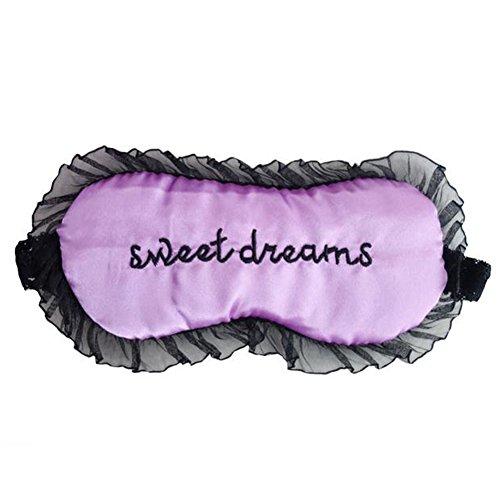 Fablcrew Schlafmaske mit Spitze zu Hause oder auf Reisen für Damen, Violett