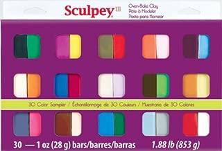 Sculpey III Oven Bake Clay Sampler 1oz, 30/pkg