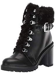 powerful Guess Geisha Combat Boots Black 9.5