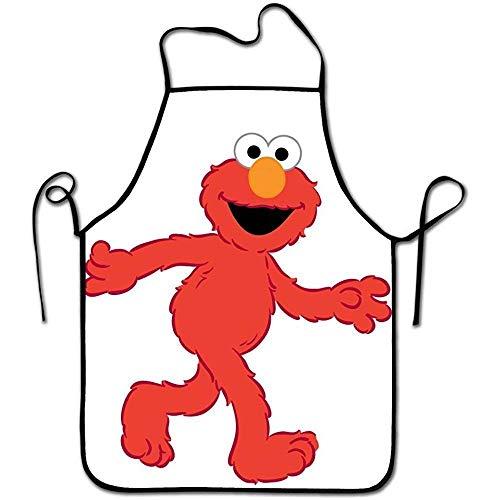N/A Lustige süße rote Muppet Elmo personalisierte Schürzen verstellbare Kochschürze zum Kochen,Backen,Grillen