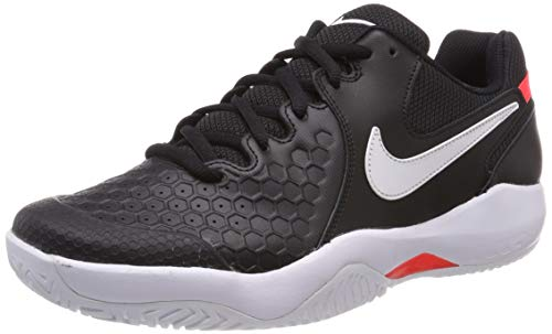 Nike Air Zoom Resistance Scarpe da Tennis Uomo, Multicolore (Black/White-bright Crimson 003), 44 EU